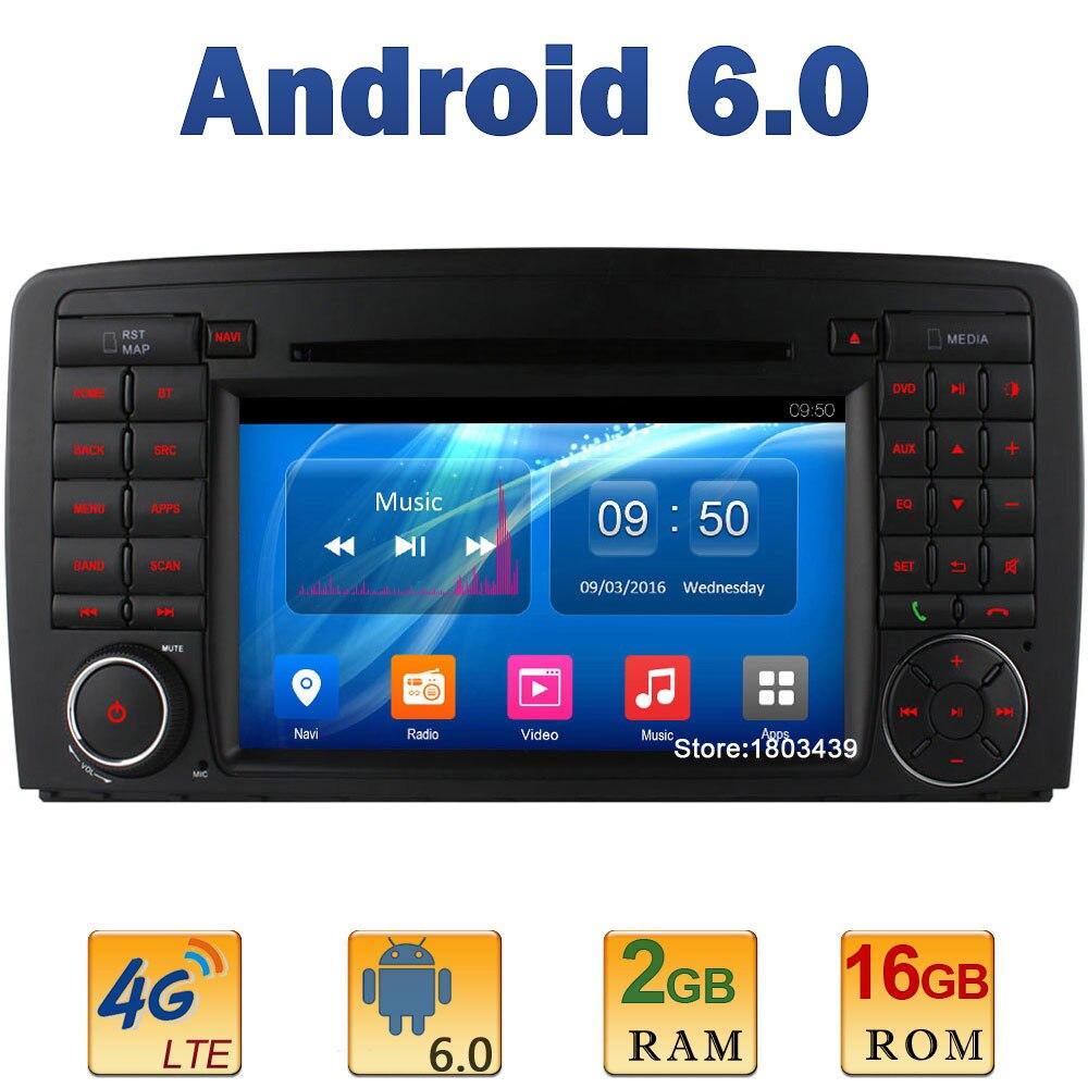 7″ Quad Core 2GB RAM 4G LTE SIM WIFI Android 6 Car DVD Player Radio For Mercedes-Benz R W251 R280 R300 R320 R350 R500 2006-2012