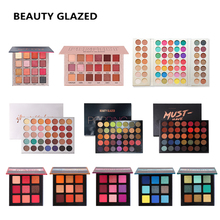 BEAUTY GLAZED Eye Shadow Palette Glitter Matte Shimmer Nude Natural Long-lasting Easy to Wear Eyes Make up Palette with Gift цена и фото
