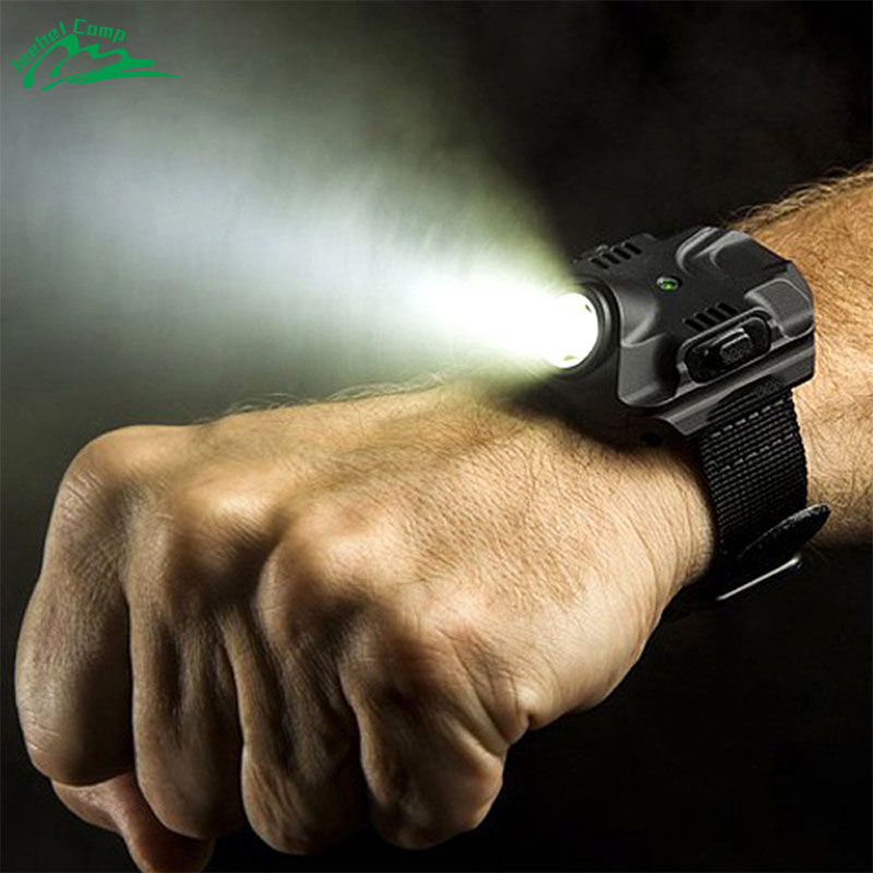 Jeebel Tactical Watch Cree LED Rechargeable Waterproof Molle Flashlight Torch SOS Emergency Lighting Outdoor Compass 3 in 1 bright watch light flashlight with compass outdoor sports mens fashion waterproof led rechargeable wrist watch lamp torch