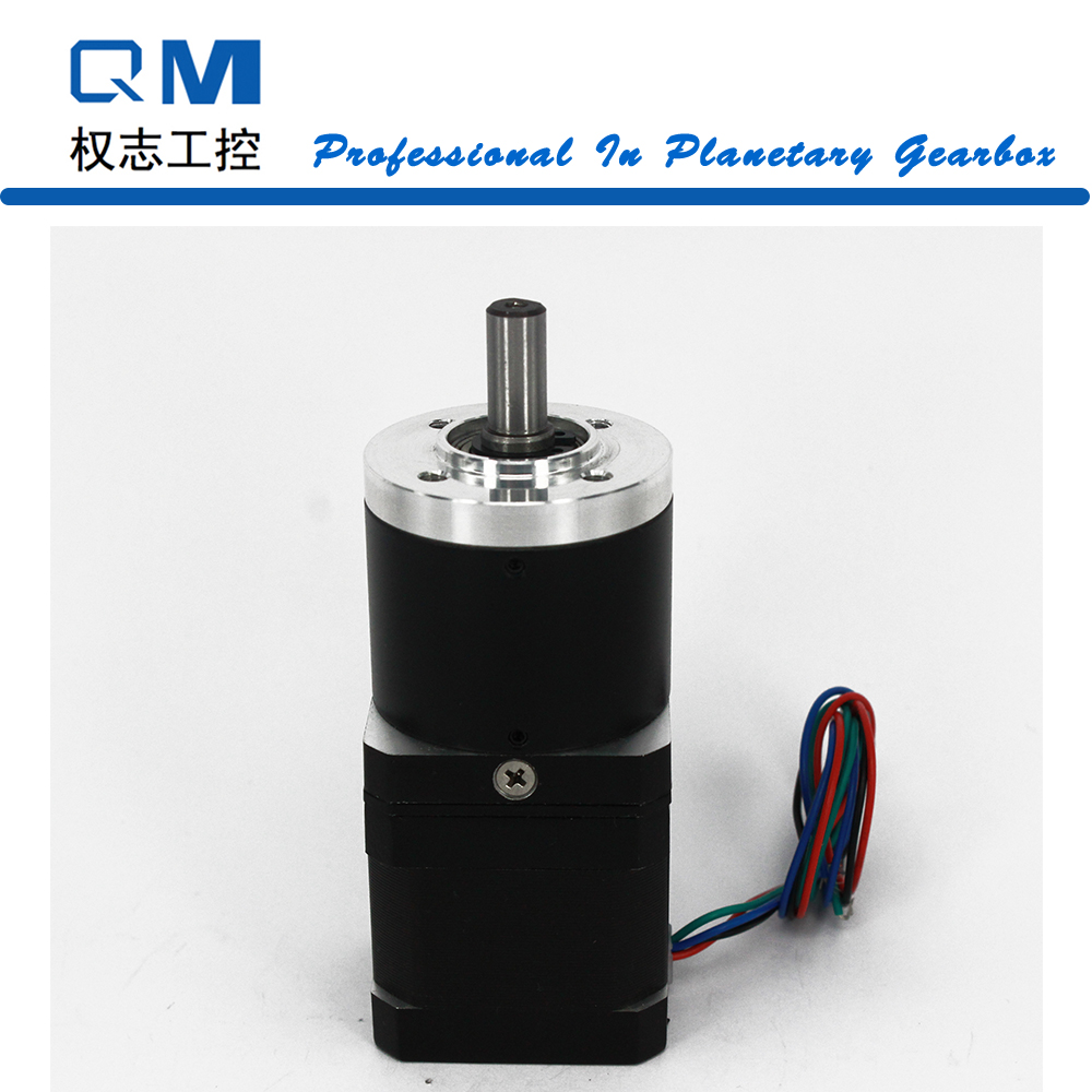 Nema 17 geared stepper motor L=40mm with planetary reduction gearbox ratio 40:1 cnc robot pump 57mm planetary gearbox geared stepper motor ratio 10 1 nema23 l 56mm 3a