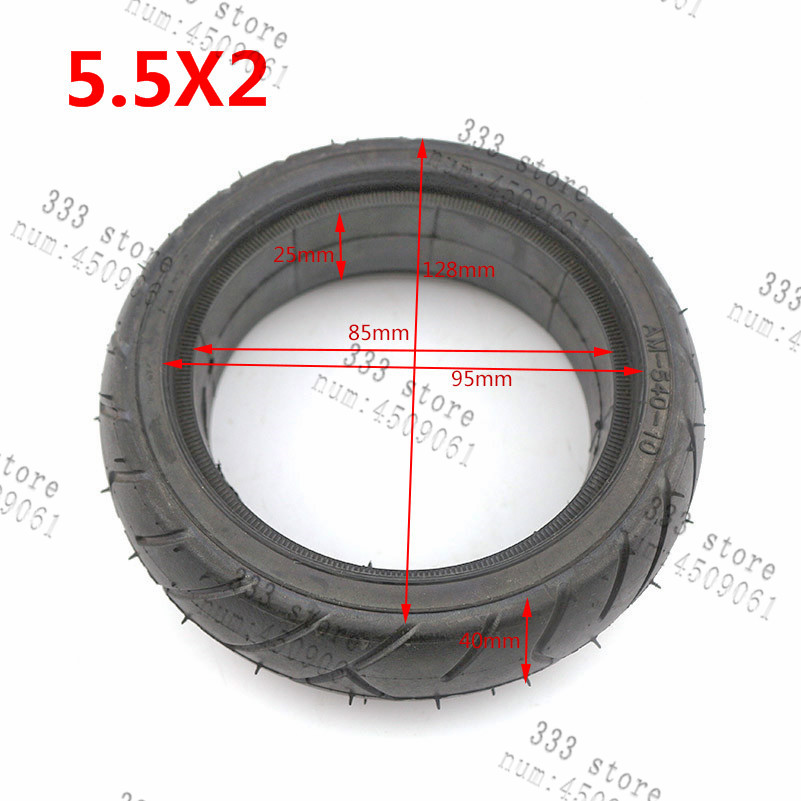 Free Shipping 5.5x2 Solid Tire External Diameter 128mm Fits For Hoverboard Self Balancing Electric Scooter Spare Parts