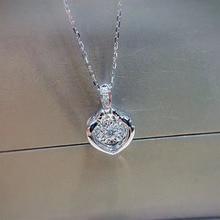 ANI 18K White Gold Pendant Necklace I SI1 0 068 ct Real Natural Diamond Fine Jewelry