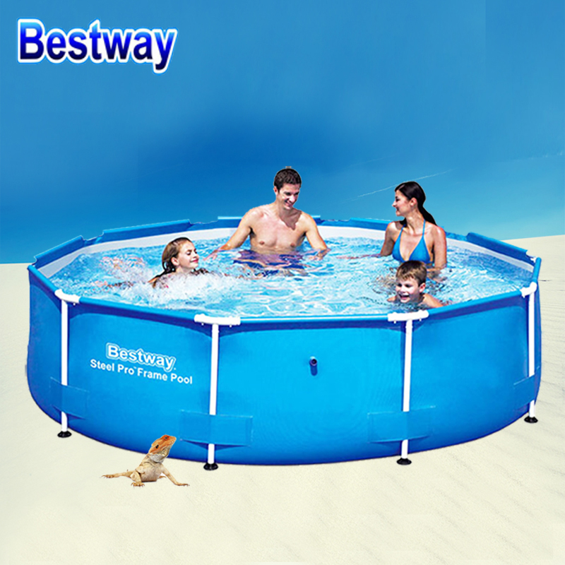 JZ02/305*76cm/4678L Bestway High capacity Circular Above Ground Swimming Pool With Ladder/Filter Pump/Thick&Tough Antiseep PVC