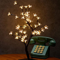 48Leds LED String Light Cherry Blossom Fairy Garland LED Table Lamps Sakura Christmas Party Wedding Event Light 220V EU/US Plug