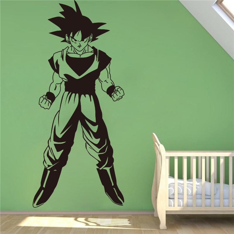 Aliexpresscom  Buy Dragon Ball Z Goku Wall Decal Vinyl Decal - Dragon ball z wall decals