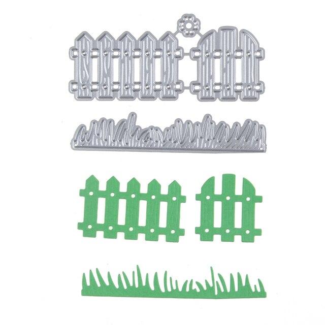 Aliexpress. Com: buy fence and grass diy cutting dies stencil.