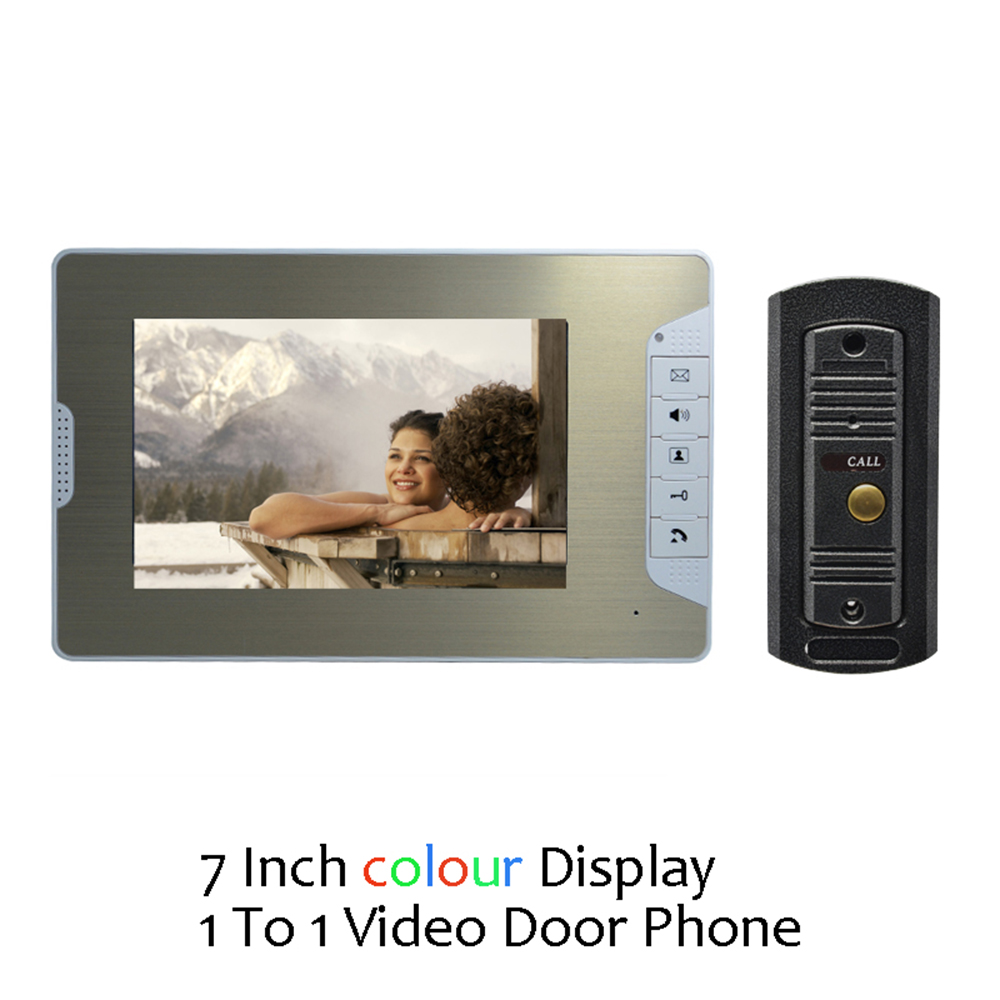 (1 set) Door Intercom Talkback System HD Camera Night Version One to One Monitor Video Door Phone Access Control Drawbench face(1 set) Door Intercom Talkback System HD Camera Night Version One to One Monitor Video Door Phone Access Control Drawbench face