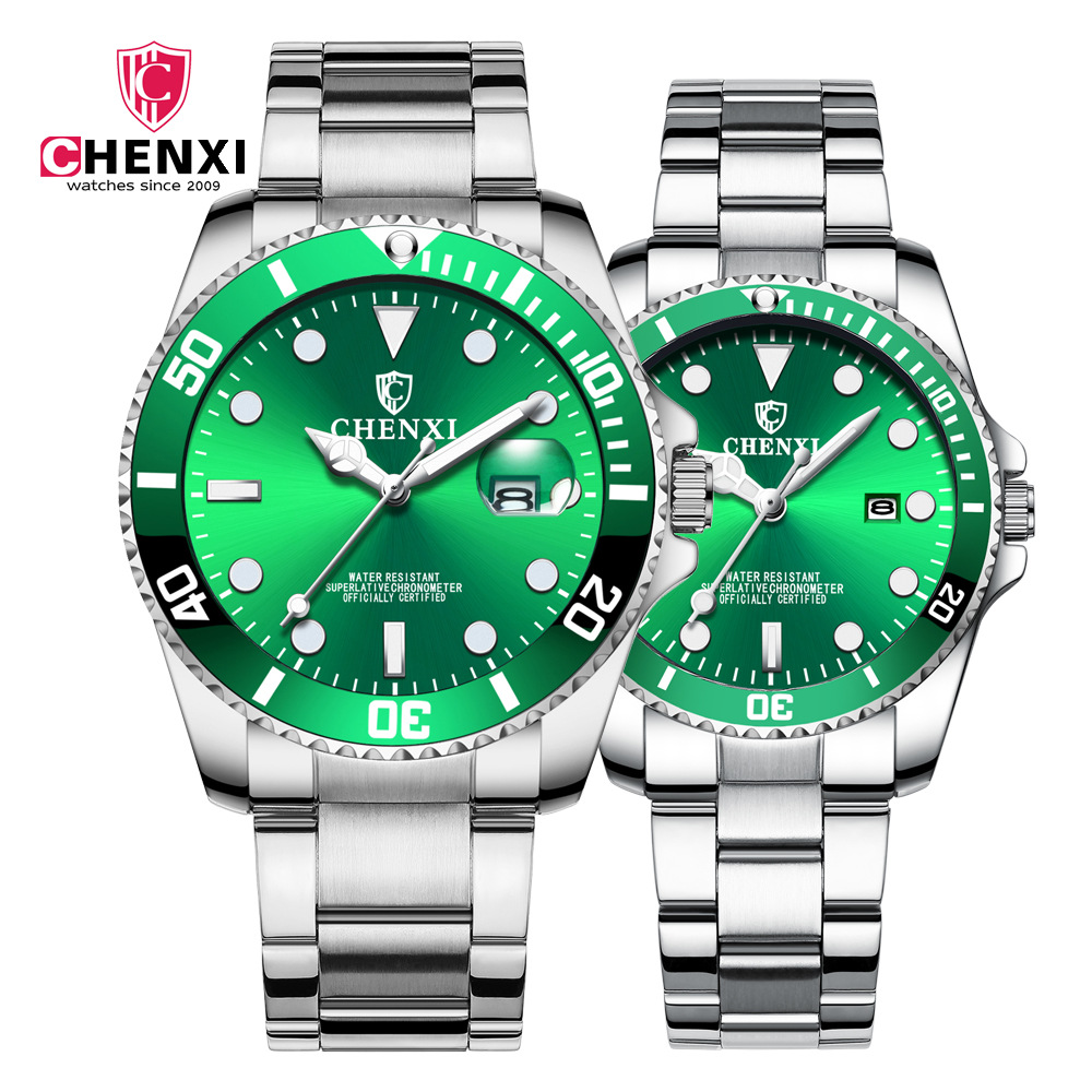 CHENXI <font><b>Couples</b></font> Watches Men Women Quartz Watch Clock Wristwatches Man Fashion Casual Male Female Watch With Calendar Dropshipping image