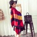 200*65 см 2016 женская Мода Давно Шаль Зимой Теплый Большие Решетки Шарф кашемировый шарф skyour