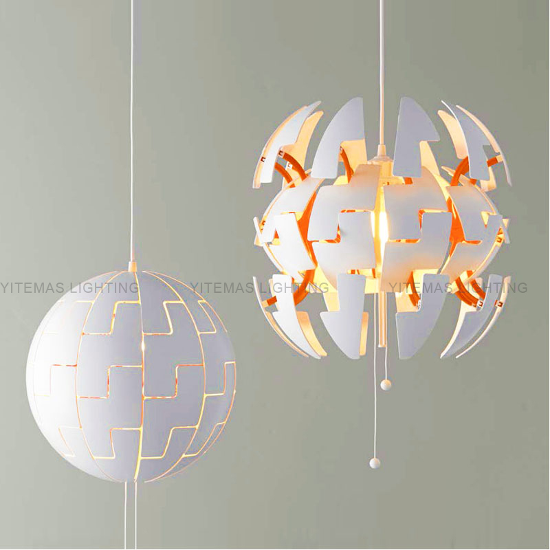 White Globe Kitchen Drop Lights Diy Adjule Creative Orange Pendant Green Decorative Sphere Hanging Light