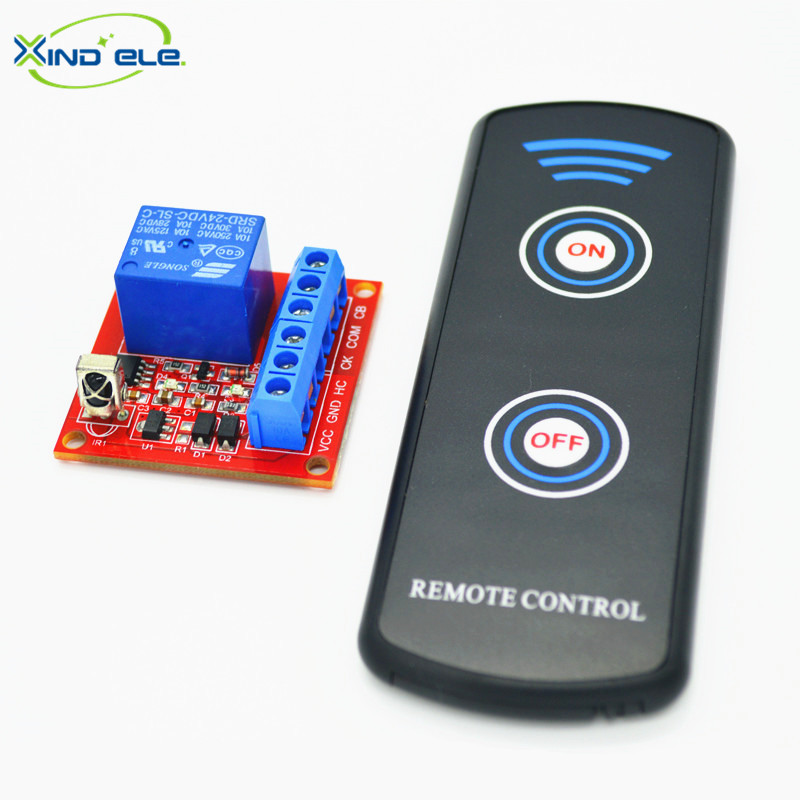 XIND ELE 1CH 24V DC IR Remote Switch Support Connect Button Switch +2-key Control For Home Light Garage Door #IR24-1SMM+LPM2#