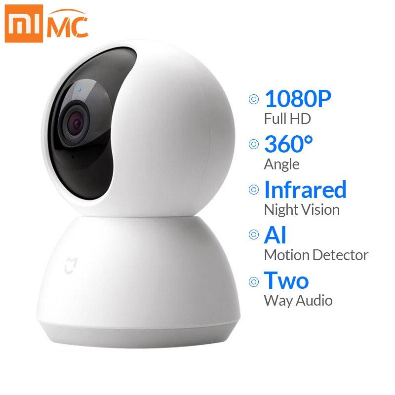 Xiaomi Mijia Mini caméra IP Wifi 1080P HD infrarouge Vision nocturne 360 degrés sans fil Wi-fi CCTV Webcam maison intelligente caméra de sécurité