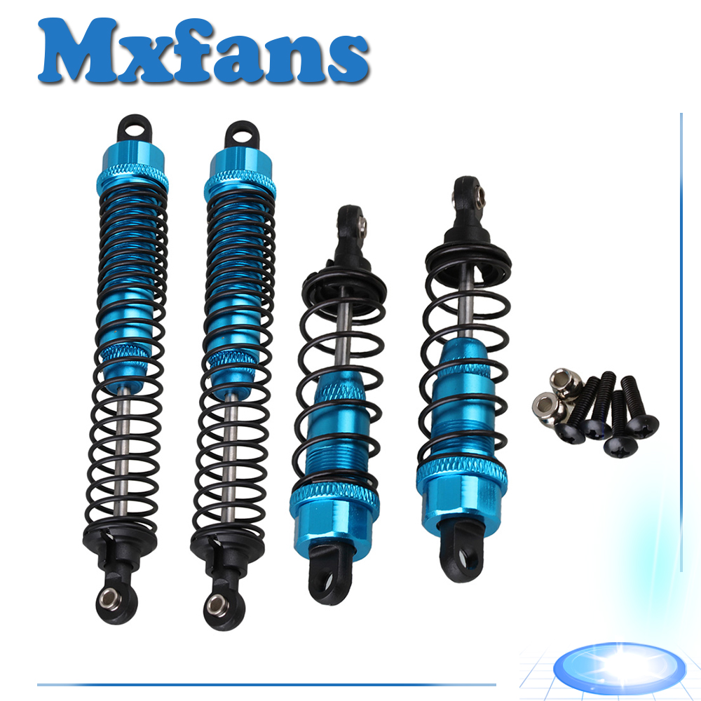 Mxfans 2 x K949-010/011 Alloy Front & Rear Shock Absorber for WL K949 RC1:10 Buggy mxfans alloy front rear servo link gold upgrade for hsp rc1 10 truck 106017 set of 2