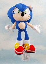 15PCS Lot Plush Toys 19cm blue Sonic The Hedgehog Plush Doll Soft Stuffed Figure Doll Key