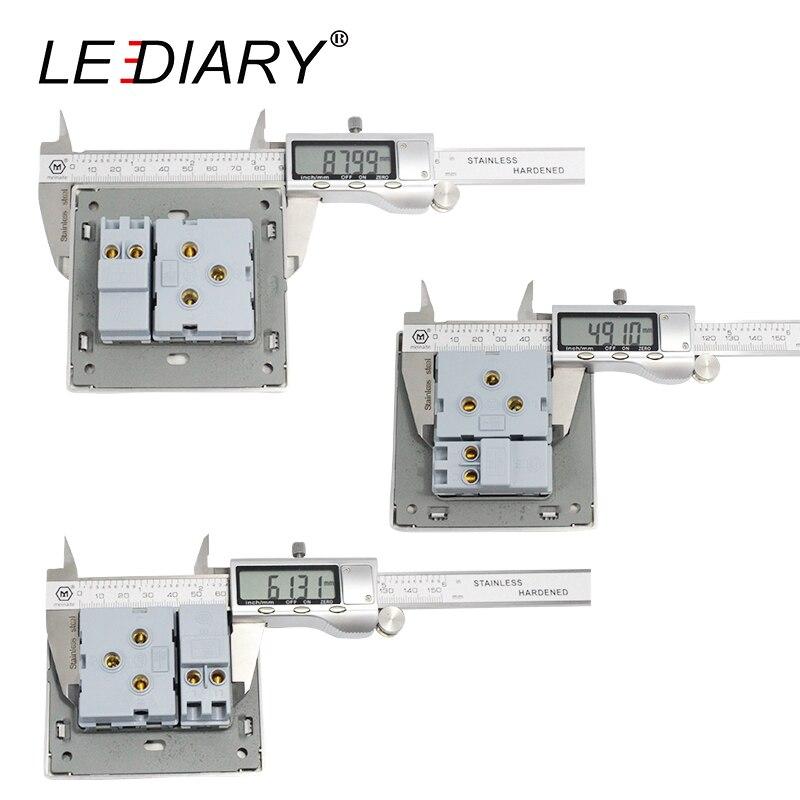 LEDIARY Led-beleuchtung Schalter Edelstahl 1-Gang/2-Gang/3-Gang/4 ...