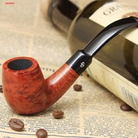 NewBee 100 Imported Briar Wood Handmade 2 Colors 9mm Filter Bent Tobacco Pipe For Masculine Gift
