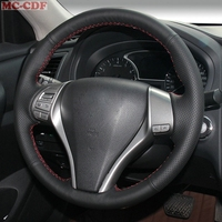 Car Styling Artificial Leather Car Steering Wheel Cover for Nissan Teana Altima 2013 2016 X Trail QASHQAI Rogue Sentra Tiida