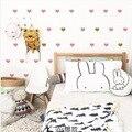 60 unids/lote Baby Boy Girls Dormitorio Rosa Negro Corazón Del Amor Del Oro Calcomanías de Vinilo Pegatinas Home Decor Nursery Art Deco de La Pared etiqueta
