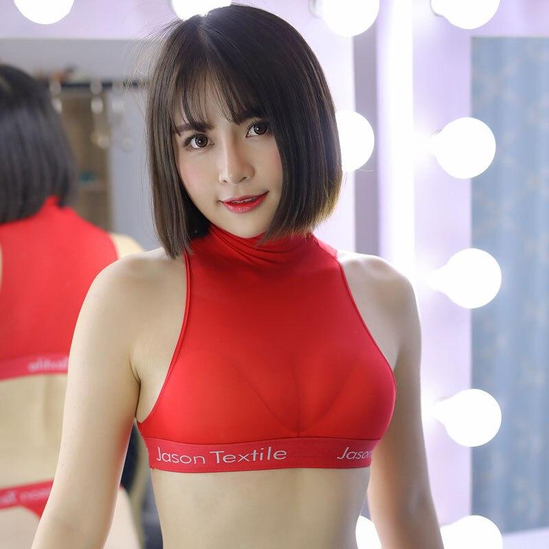 Sexy Women Ice Silk See Through Short Vest Camis Crop   Top   Sleeveless Shirt Sexy   Tanks     Top   Transparent Night Club Erotic Wear F9