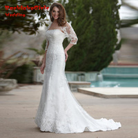 Hot Sale Strapless Vestido De Noiva Sexy Custom Made 2017 New Vintage Greek Style Mermaid Wedding