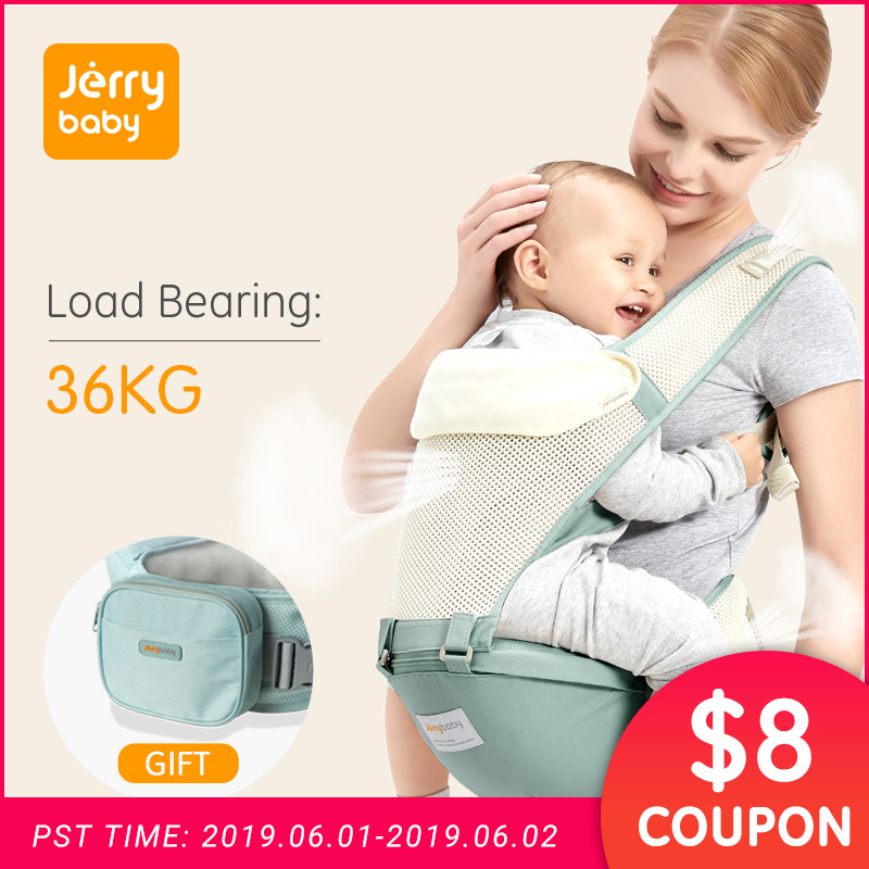 Jerrybaby Baby Carrier Breathable Ergonomic Infant Carrier Front Facing Kangaroo Baby Wrap Sling Baby Waist Stool 0-36 MonthsJerrybaby Baby Carrier Breathable Ergonomic Infant Carrier Front Facing Kangaroo Baby Wrap Sling Baby Waist Stool 0-36 Months