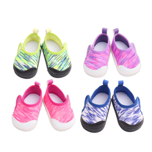 18 inch Girls doll shoes Sneakers canvas shoes American newborn Sports shoe Baby toys fit 43 cm baby dolls s176 18 inch girls doll shoes winter woolen slippers casual shoe american newborn accessories baby toys fit 43 cm baby dolls s129