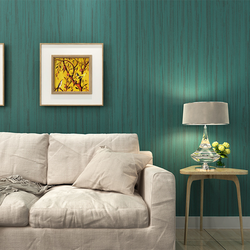 papier peint Modern Dark Grey,Beige Blue Wall Papers Home Decor Stripped Wallpaper for Living Room Bedroom Cover Mural