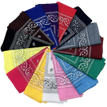 1PC Fashion Cotton Headband Scarf Blend Hip-hop Bandanas For Male Female Vintage Pocket Towel Square Scarves Wristband Headwear
