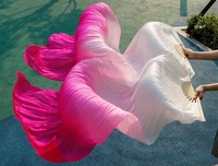 2015 Female High Quality Chinese Silk Veils Dance Fans Pair Of Belly Dancing Fans Cheap Hot