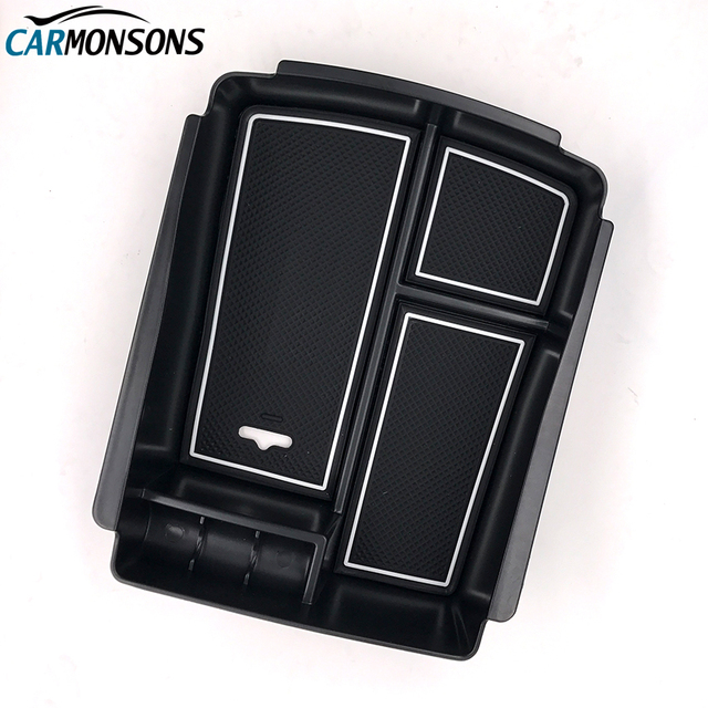 Carmonsons Central Armrest Storage Box Container Holder Tray for Kia Sorento 2015 2016 Accessories Car Organizer Car Styling
