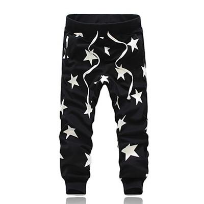 Повседневные штаны-шаровары с принтом; macacao moletom hombre calca masculino; Спортивный костюм; pantalone; мешковатая бандана; брюки с заниженным шаговым швом - Цвет: Black