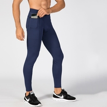 Men Running Tights Compression Pants Trousers Fitness Elastic Sportswear Gym Training Mallas Hombre