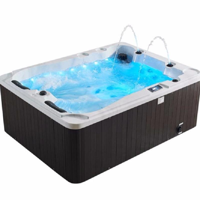 2019 Neue Luxus Spezielle Design 2,1 Meter Im Freien Whirlpool Massage Badewanne 2 Person Spa Whirlpool M-3371a Badezimmerarmaturen