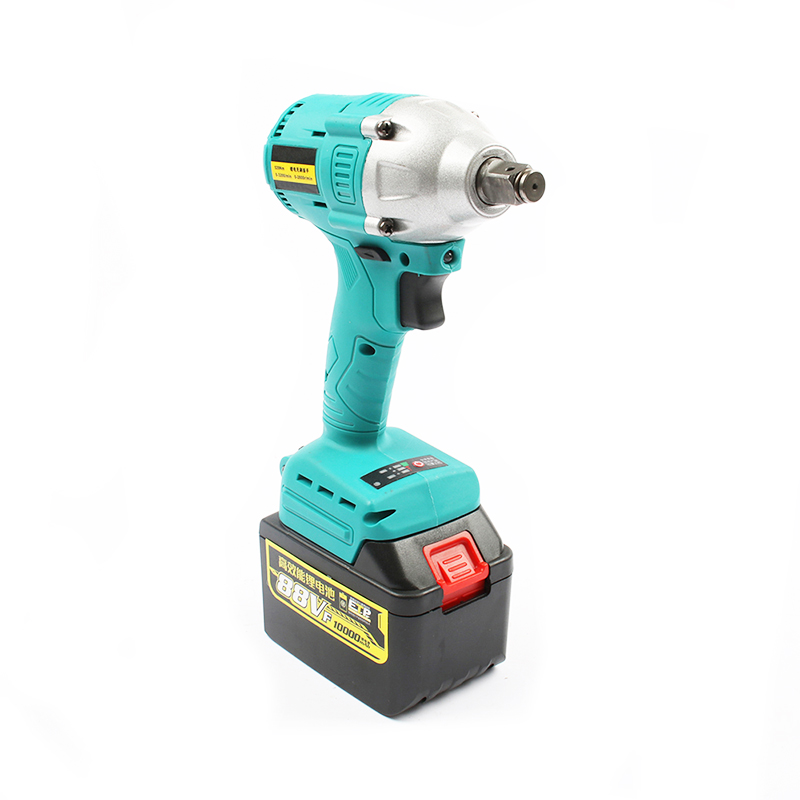 with 88v 10000 mAh lithium battery Cordless electric wrench impact wrench rechargeable woodworking electric tools Blue