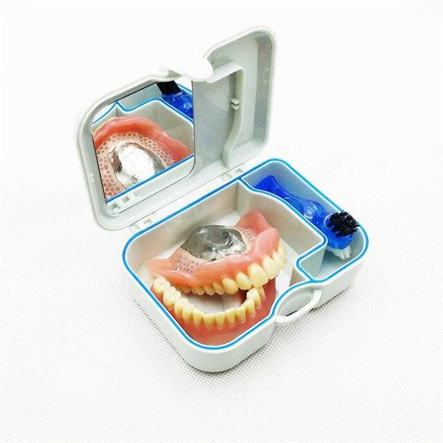 1 Pcs Kotak Penyimpanan Gigi Tiruan Buatan Alat Gigi Perawatan Mulut