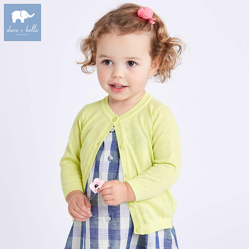 DB7025 dave bella spring infant baby girls fashion cardigan kids toddler coat lovely children knitted sweater db4916 dave bella spring fall baby girls navy striped sweater boys navy star embroidery sweaters stylish sweater