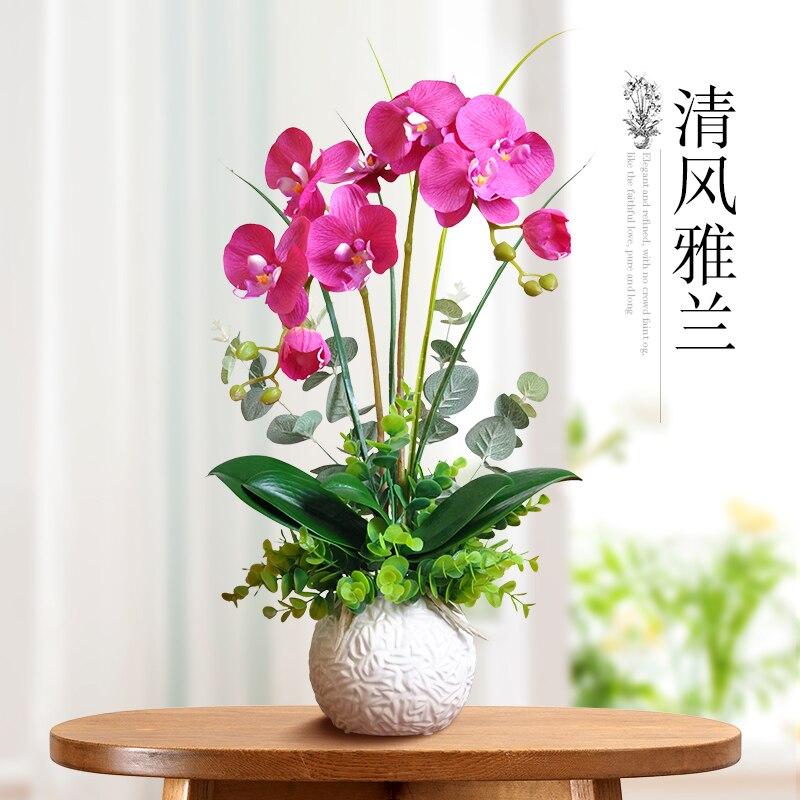 Plucking flower flower simulation table decoration decoration room suite of Phalaenopsis flower bouquet false