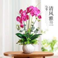 Plucking flower flower simulation table decoration decoration room suite of Phalaenopsis flower bouquet false