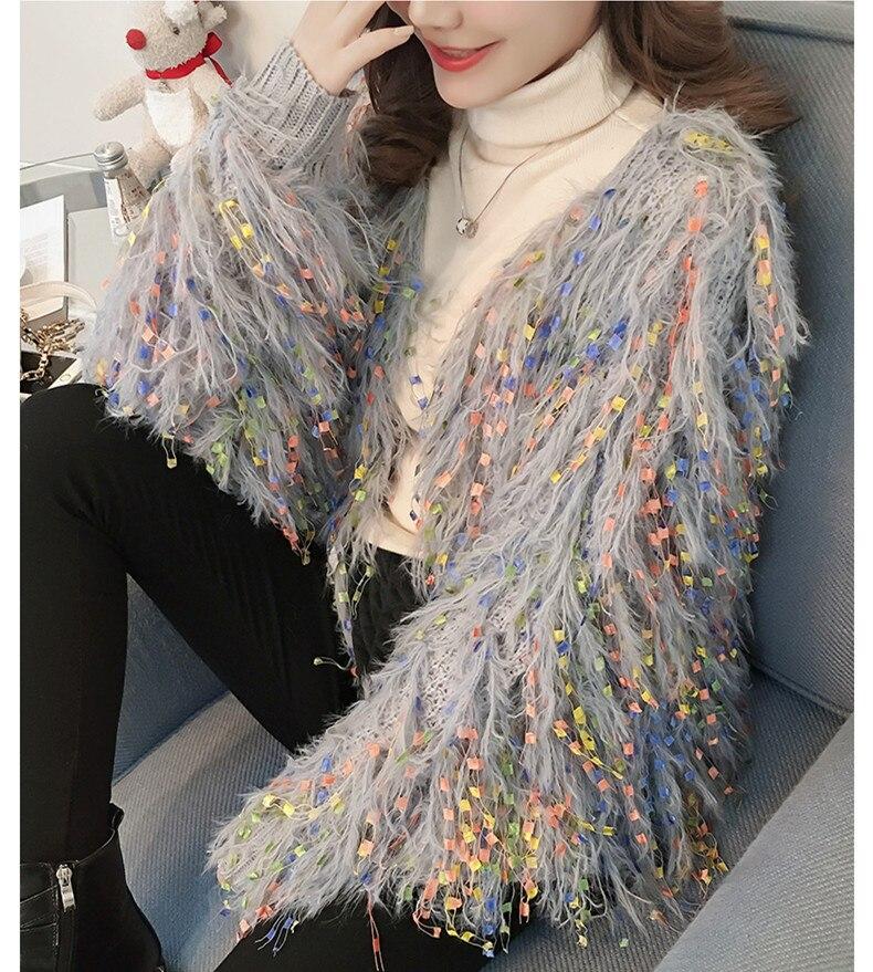 Autumn tassel Sweater Women long sleeve knitted Cardigans