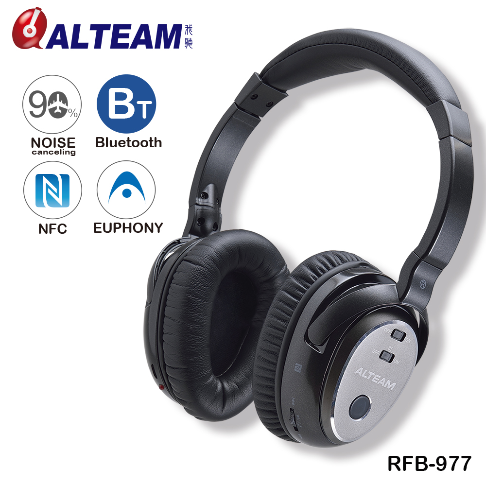 Best Brand High Quality 3D Stereo Over Ear Wireless Sound Isolation Active Noise Canceling Bluetooth Headphone Headset with Mic