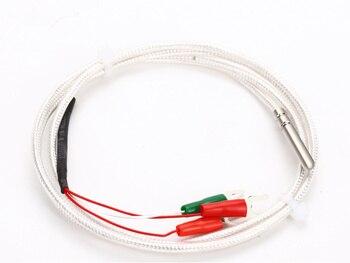 Sensor de sonda del Sensor de temperatura pt100 de tipo plomo WZP-Pt100, termistor de platino Pt1000, resistente al agua y anticorrosión, Sensor 4x30mm A