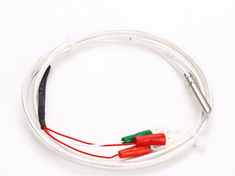WZP-Pt100 Lead type pt100 temperature sensor probe thread platinum thermistor Pt1000 waterproof+anticorrosion 4*30mm A Sensor