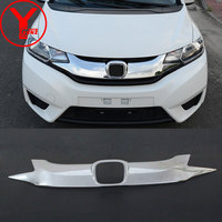 chrome front raptor grille For honda fit jazz 2015 2016 ABS car grill parts for honda fit accessories 2014 2015 2016 2017 YCSUNZ