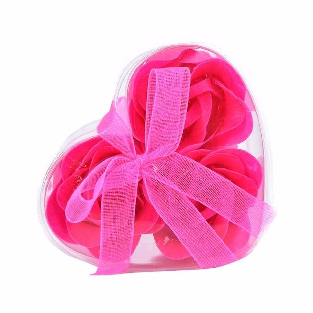Flower Soap Rose Soap 3Pcs Scented Rose Flower Petal Bath Body Soap Wedding Party Gift Case Christmas Festival Decoration 3
