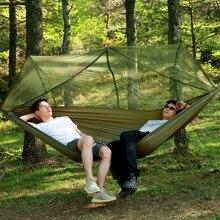 Портативный дорожный гамак для отдыха на открытом воздухе с москитной сеткой Сверхлегкий охотничий кемпинговый тент москитная сетка подвесная спальная кровать