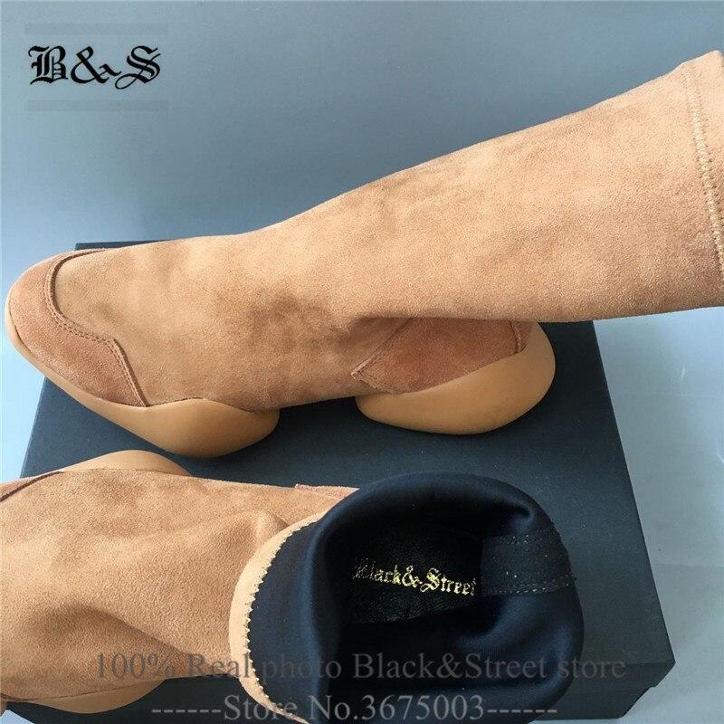 5 Personalizada Rebaño Cuadro Marca Entrenador Estiramiento Y Verdadero Tobillo Zapatilla De Cómoda 6 Street Marrón Suede Arranque Zapatos Negro xFU6Aw