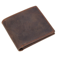 Men Wallet High Quality Vintage Crazy Horse Leather RFID Card Wallet Heave Duty Leather Wallet Credit Card Holder cuppozo secret life of walter mitty vintage organizer wallet handmade top quality card holder crazy horse leather men money bag