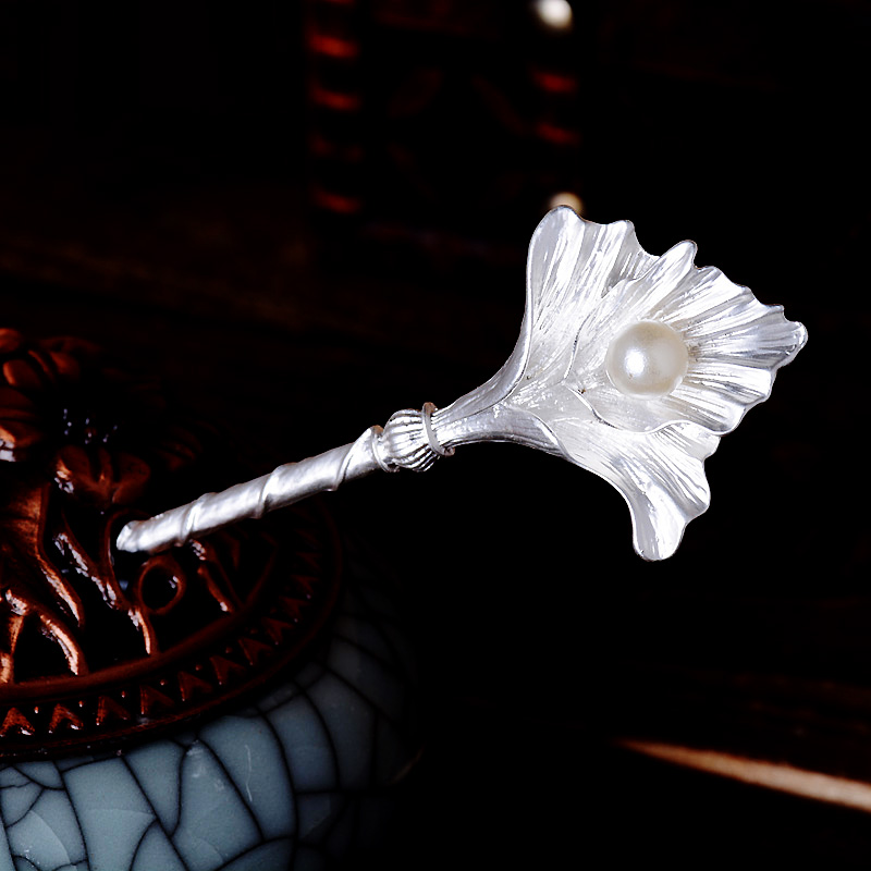 Retro Ginkgo Leaves Hair Sticks Jewelry Simulado Pearl Leaves - Bisutería - foto 4