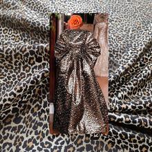 SASKIA 1Meter Leopard Brocade Jacquard Fabric High Density 62Polyester Material Yarn Dye Sewing Dress Cloth Patchwork Zakka Diy