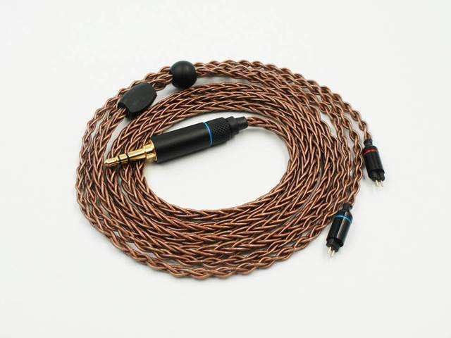 OCC 8 жильный 19 жильный Плетеный MMCX/2pin 0,78 мм Hi Fi аудиофил IEM наушники вкладыши кабель для обновления наушников